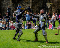 Knights at Warkworth Castle, Northumberland